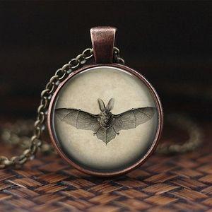Gothic Noir Bat Necklace
